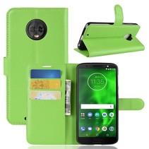 Litchee Booktype Hoesje Motorola Moto G6 - Groen