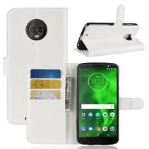 Litchee Booktype Hoesje Motorola Moto G6 - Wit
