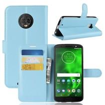 Litchee Booktype Hoesje Motorola Moto G6 - Blauw