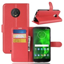 Litchee Booktype Hoesje Motorola Moto G6 - Rood