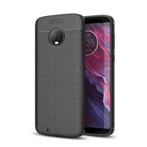 Litchee TPU Hoesje Motorola Moto G6 - Zwart