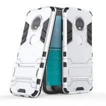 Hybrid Hoesje Motorola Moto G6 - Zilver