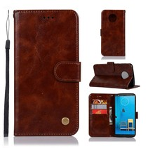 Booktype Hoesje Motorola Moto G6 Plus - Bruin