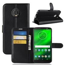 Litchee Booktype Hoesje Motorola Moto G6 Plus - Zwart