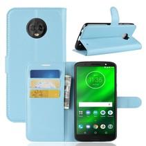Litchee Booktype Hoesje Motorola Moto G6 Plus - Blauw