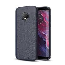 Litchee TPU Hoesje Motorola Moto G6 Plus - Blauw
