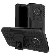Hybrid Hoesje Motorola Moto G6 Plus - Zwart