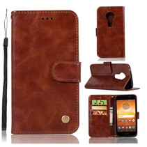 Booktype Hoesje Motorola Moto E5 / G6 Play - Bruin