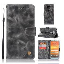 Booktype Hoesje Motorola Moto E5 Plus - Grijs