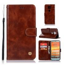Booktype Hoesje Motorola Moto E5 Plus - Bruin