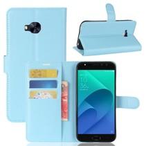 Litchee Booktype Hoesje Asus Zenfone 4 Selfie Pro - Blauw