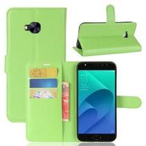 Litchee Booktype Hoesje Asus Zenfone 4 Selfie Pro - Groen