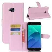 Litchee Booktype Hoesje Asus Zenfone 4 Selfie Pro - Roze