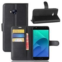Litchee Booktype Hoesje Asus Zenfone 4 Selfie Pro - Zwart
