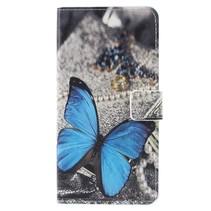 Booktype Hoesje Asus Zenfone 4 Max - Blauwe vlinder
