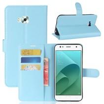 Litchee Booktype Hoesje Asus Zenfone 4 Selfie - Blauw