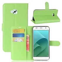 Litchee Booktype Hoesje Asus Zenfone 4 Selfie - Groen
