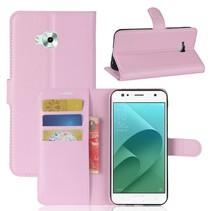 Litchee Booktype Hoesje Asus Zenfone 4 Selfie - Roze