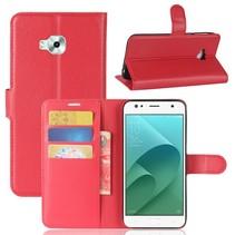 Litchee Booktype Hoesje Asus Zenfone 4 Selfie - Rood