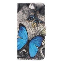 Booktype Hoesje Honor 9 Lite - Blauw vlinder