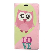 Booktype Hoesje Honor 9 Lite - Uil Love