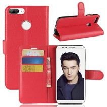 Litchee Booktype Hoesje Honor 9 Lite - Rood