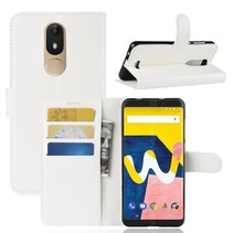 Litchee Booktype Hoesje Wiko View Lite - Wit