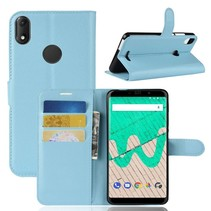 Litchee Booktype Hoesje Wiko View Max - Blauw
