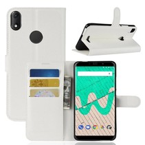 Litchee Booktype Hoesje Wiko View Max - Wit