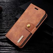 Detachable 2-in-1 Lederen Booktype Hoesje Samsung Galaxy S9 - Bruin
