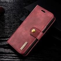 Detachable 2-in-1 Split Lederen Booktype Hoesje Samsung Galaxy S9 - Rood