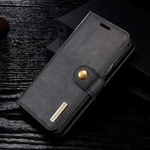 Detachable 2-in-1 Lederen Booktype Hoesje Samsung Galaxy S9 - Zwart