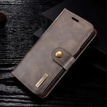 Detachable 2-in-1 Lederen Booktype Hoesje Samsung Galaxy S9 - Grijs/bruin