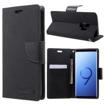 GOOSPERY Canvas Wallet Hoesje Samsung Galaxy S9 - Zwart