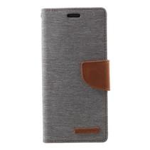 GOOSPERY Canvas Wallet Hoesje Samsung Galaxy S9 - Grijs