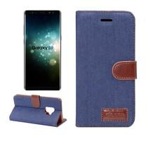 Jeans Booktype Hoesje Samsung Galaxy S9 - Blauw