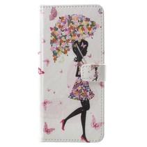 Bookstyle Hoes Samsung Galaxy S9 - Paraplu Meisje