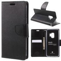 GOOSPERY Bravo Booktype Hoesje Samsung Galaxy S9 - Zwart