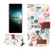 Bloemen Booktype Hoesje Samsung Galaxy S9 - Wit
