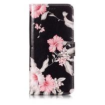 Bloemen Booktype Hoes Samsung Galaxy S9