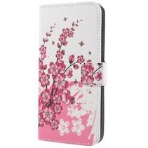 Booktype Hoesje Samsung Galaxy S9 - Roze Bloesem