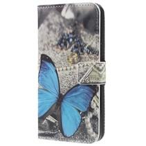 Booktype Hoesje Samsung Galaxy S9 - Blauwe Vlinder