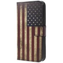 Booktype Hoesje Samsung Galaxy S9 - Amerikaase vlag