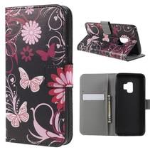 Booktype Hoesje Samsung Galaxy S9 - Roze Vlinders