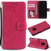 Vlinder Patroon Booktype Hoesje Samsung Galaxy S9 - Rose