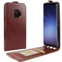 Glad Flipcase Hoesje Samsung Galaxy S9 - Bruin