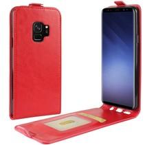 Glad Flipcase Hoesje Samsung Galaxy S9 - Rood