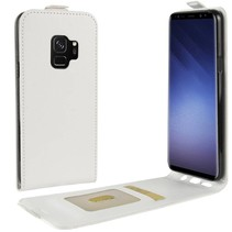 Glad Flipcase Hoesje Samsung Galaxy S9 - Wit