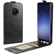 Glad Flipcase Hoesje Samsung Galaxy S9 - Zwart