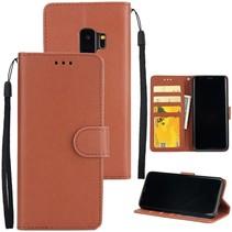 Booktype Hoesje Samsung Galaxy S9 - Bruin